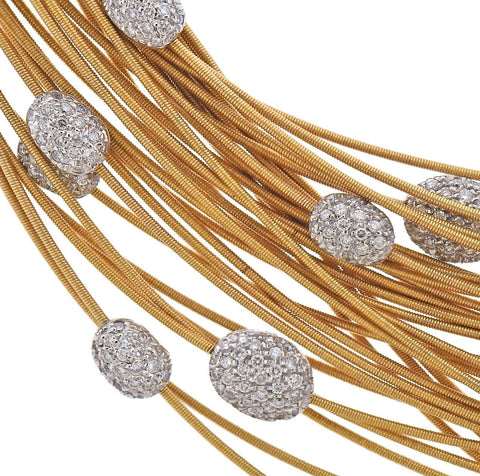 image of Marco Bicego Cairo 4.00ctw Diamond Gold Necklace