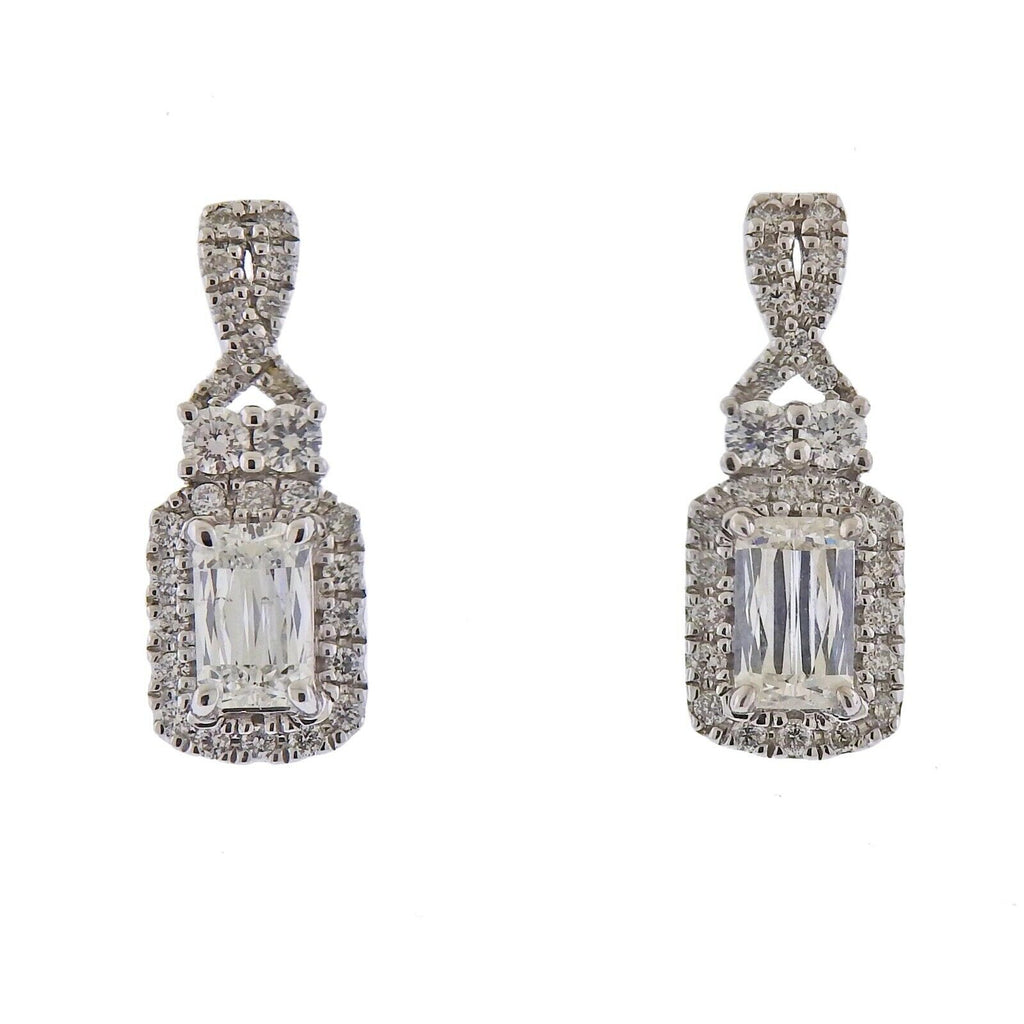 thumbnail image of Ashoka 1.49ctw Diamond Gold Drop Earrings