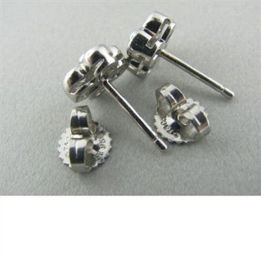 image of Tiffany & Co Platinum Bezel Set Diamond Earrings