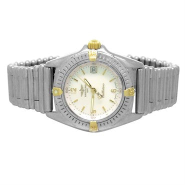 Breitling Callistino Stainless Steel 18k Gold Ladies Watch B52045