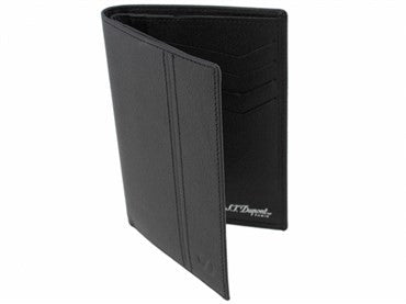 image of ST Dupont Black Leather Defi Wallet 086602