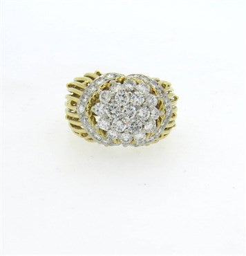 image of Hammerman Brothers Diamond Gold Platinum Dome Ring