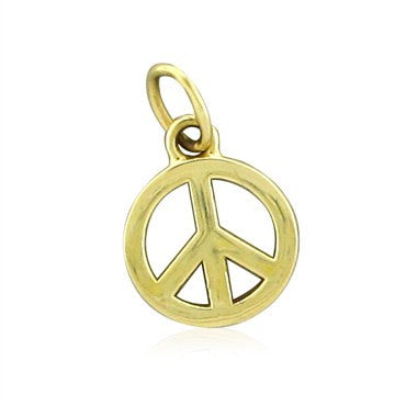 image of Tiffany & Co 18K Yellow Gold Peace Sign Charm Enhancer Pendant