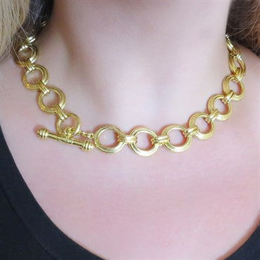 image of Elizabeth Locke 19k Gold Bergamo Necklace