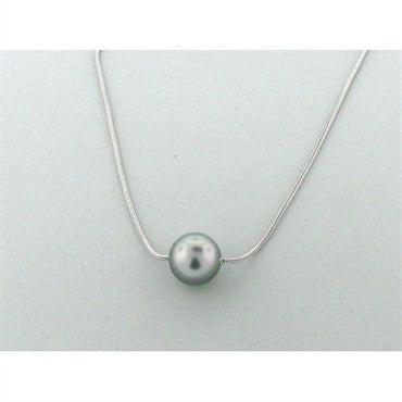 thumbnail image of Estate Henry Dunay Platinum 12.3mm Pearl Necklace