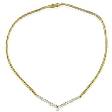 image of Hammerman Brothers Vintage 14K Gold 1.80Ctw Diamond Necklace