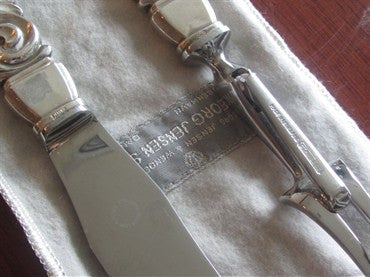 thumbnail image of Estate Georg Jensen Scroll Sterling Carving Set 2pc