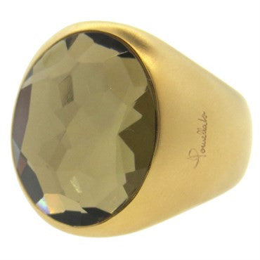 thumbnail image of Pomellato Narciso Smokey Quartz 18k Gold Ring