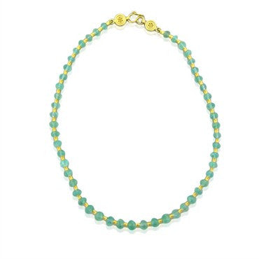 image of Reinstein Ross 22K Yellow Gold Emerald Bead Flared Tube Necklace