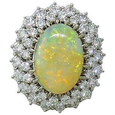 image of Opal Diamond 18K Gold Cocktail Ring