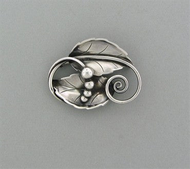 image of Estate Georg Jensen Sterling Silver Brooch Pin Number 108
