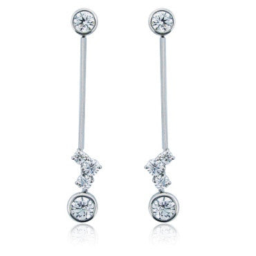 thumbnail image of Hearts On Fire Effervescence 18K Gold Diamond Earrings