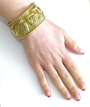 thumbnail image of Impressive Gold Lion Bracelet by Robert Wander for Winc