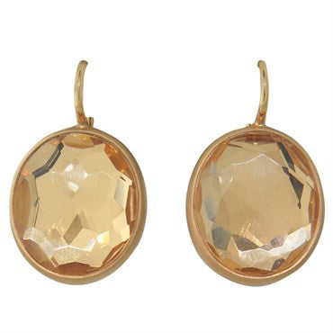 image of Pomellato Narciso Rock Crystal Gold Earrings