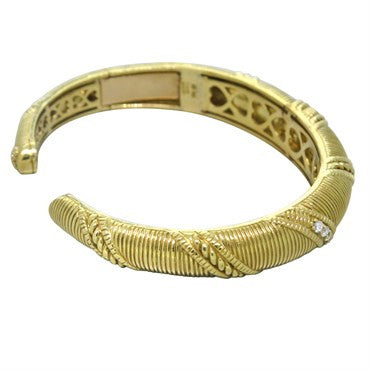 image of Judith Ripka 18K Yellow Gold Diamond Cuff Bracelet