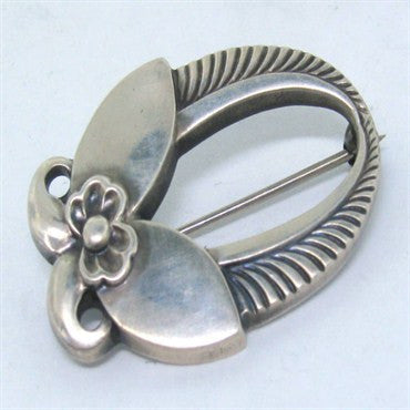 thumbnail image of Estate Georg Jensen Sterling Earrings Pin Set