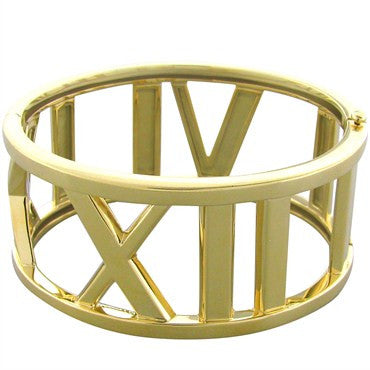 image of Tiffany & Co Atlas 18k Gold Bangle Bracelet