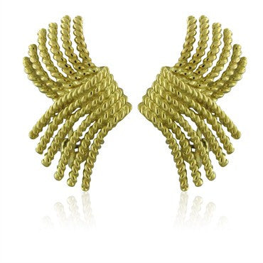 image of Tiffany & Co Jean Schlumberger 18K Gold Rope Earrings
