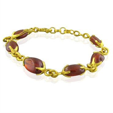 image of New Gurhan Star 24K Gold Spessartite Garnet Bracelet