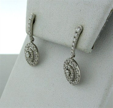 thumbnail image of New Hearts On Fire Captivation 1.10ctw Diamond Drop Earrings