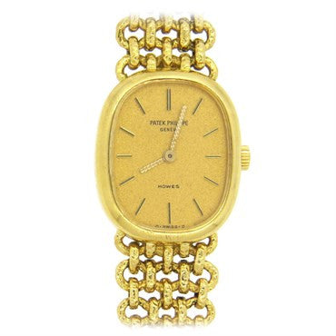 image of Patek Philippe Lady's 18k Gold Bracelet Wristwatch Ref 4464