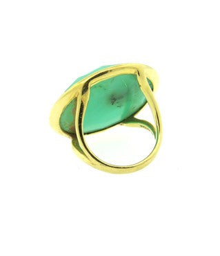 image of Ippolita Large Lollipop Candy 18k Gold Diamond Chrysoprase Ring
