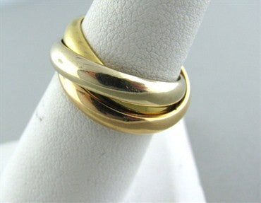 Cartier Trinity Tri Color 18K Gold Band Ring