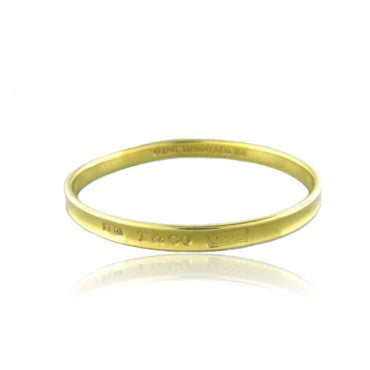image of Tiffany & Co 1837 18k Gold Bangle Bracelet 28g