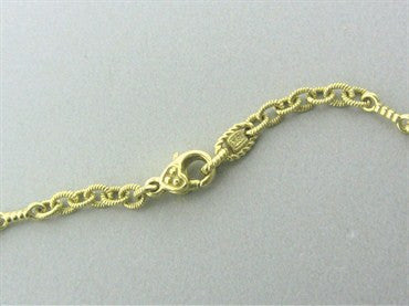 thumbnail image of Judith Ripka 18K Gold Diamond Heart Chain Necklace