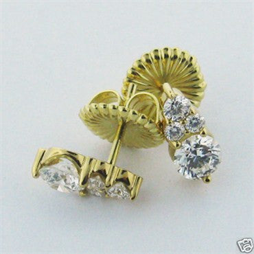 thumbnail image of Hearts On Fire 18k Yellow Gold Diamond Earrings