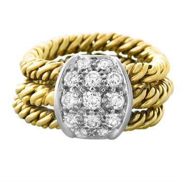 image of Vintage Pomellato 18k Gold Diamond Ring