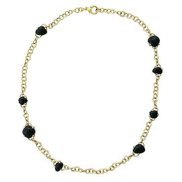 thumbnail image of New Pomellato Capri 18k Gold Onyx Quartz Necklace