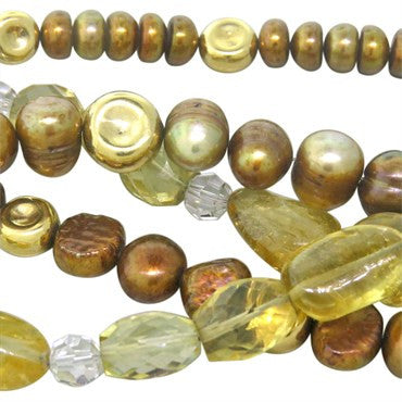 thumbnail image of Robert Lee Morris Pearl Quartz Gold Toggle Bracelet