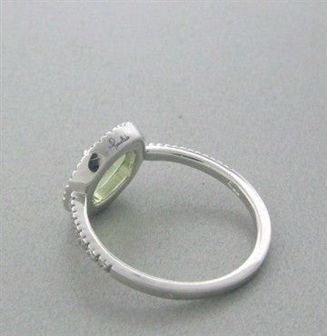 thumbnail image of Pomellato Colpo Di Fulmine 18K White Gold Diamond Peridot Ring