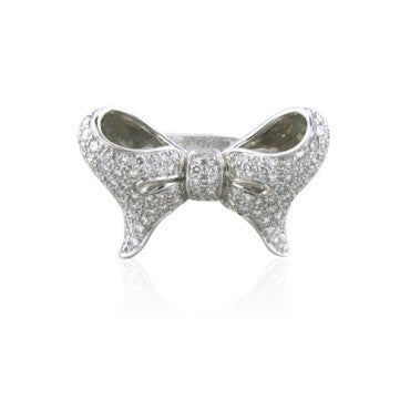 thumbnail image of New Paul Morelli 18k Gold Bow Tie Diamond Ring