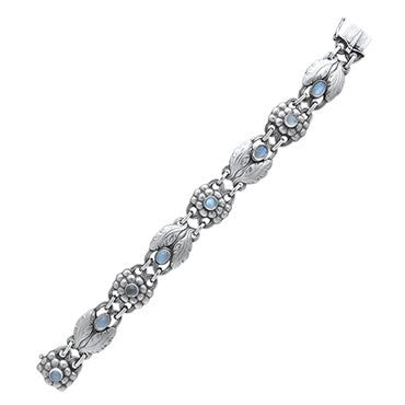 thumbnail image of Georg Jensen Sterling Silver Moonstone Bracelet Number 3