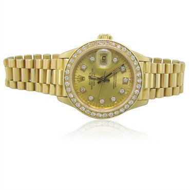 image of Rolex President 18K Gold Diamond Ladies Watch 69178