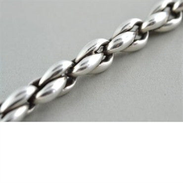 image of Estate Hermes Sterling Silver Chain Link Bracelet