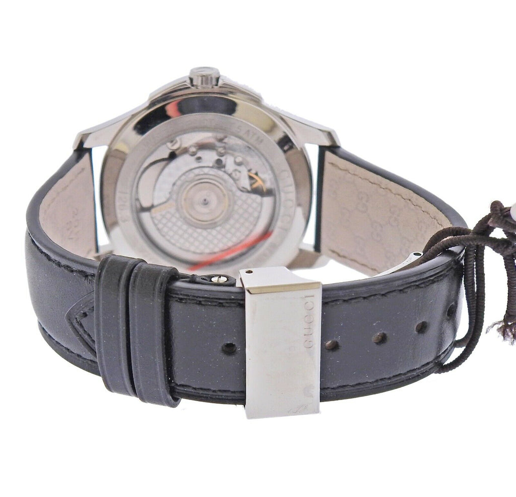 thumbnail image of Gucci G-Timeless Automatic Steel Leather Watch YA126313