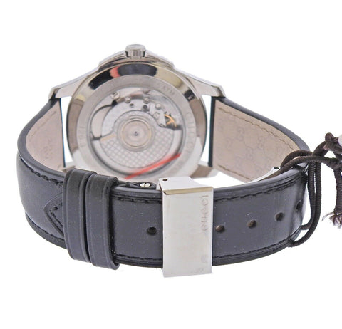 image of Gucci G-Timeless Automatic Steel Leather Watch YA126313