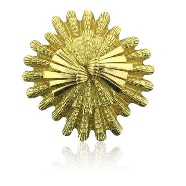 image of Estate David Webb 18k Gold Shell Motif Brooch