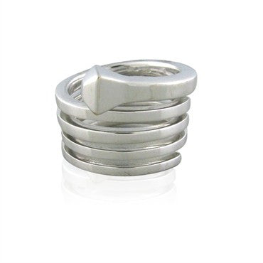 image of Gucci Chiodo 18K White Gold Spiral Ring