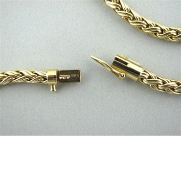 image of Vintage Tiffany & Co 14k Gold Woven Necklace