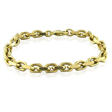 image of Estate Tiffany & Co 18K Yellow Gold Chain Link Bracelet 46.3g