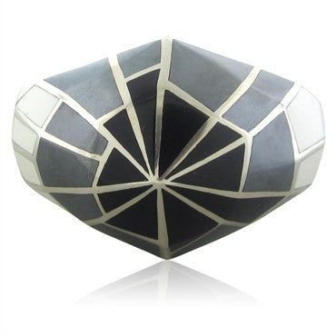 thumbnail image of Stephen Webster Sterling Silver White Jade Hematite Onyx Cuff Bracelet