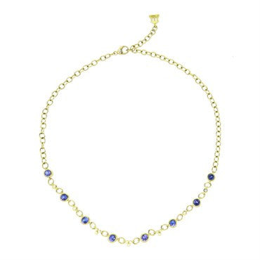 image of Temple St. Clair Bellina Tanzanite Diamond Gold Necklace