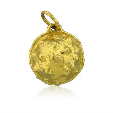 image of Jean Mahie Modernist 22K Yellow Gold Pendant