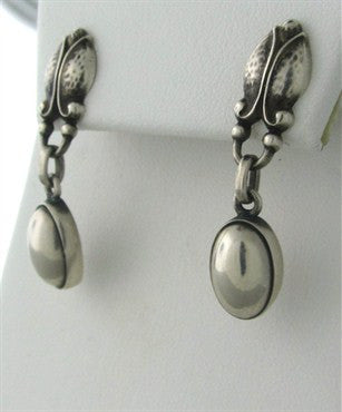 thumbnail image of Georg Jensen Sterling Silver Drop Earrings Number 17