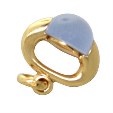 thumbnail image of New Pomellato Luna 18k Gold Chalcedony Pendant Charm