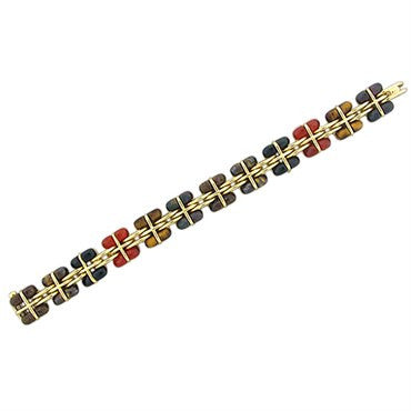 thumbnail image of Rare Tiffany & Co 18K Gold Multi Gemstone Bracelet